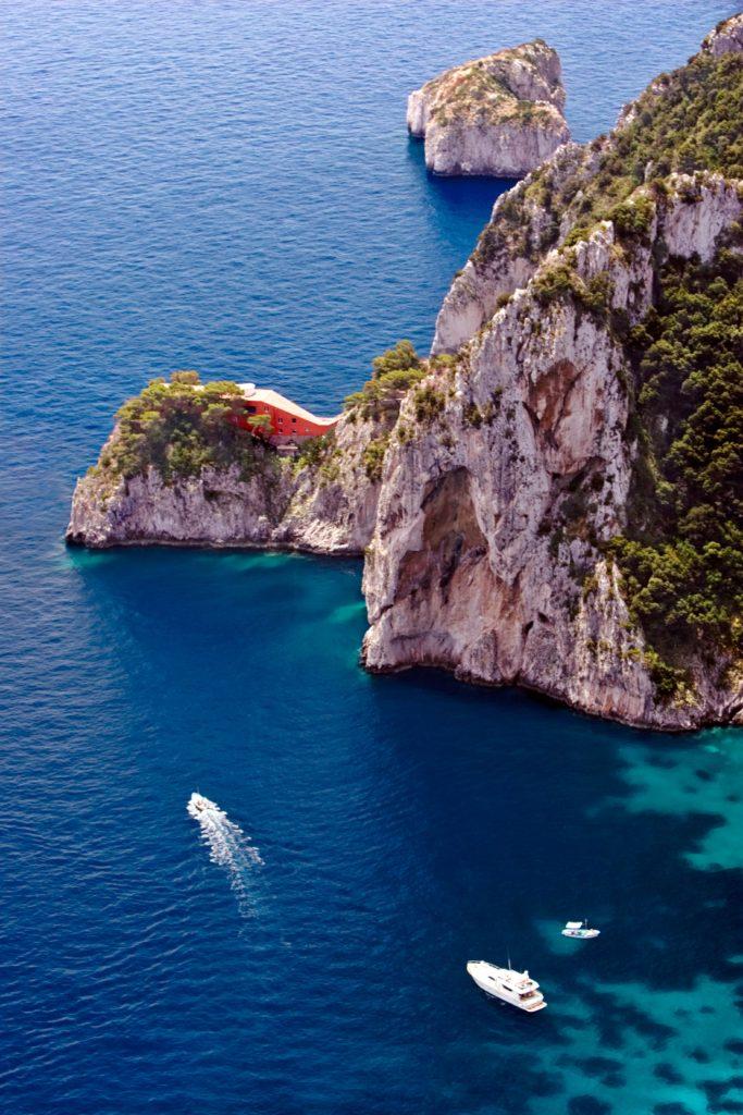Italy Isola Di Capri Island of Capri Gulf of Naples Villa Malaparte Isla De Capri