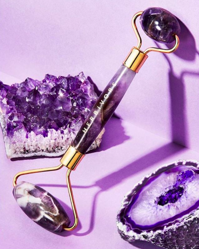 Exciting Beauty product: Herbivore Amethyst Facial Roller