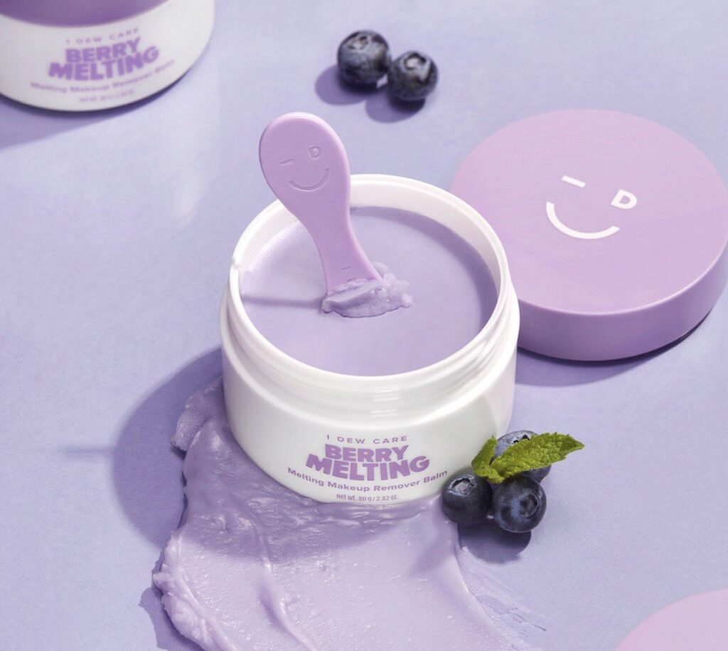 I Dew Care Berry Melting Makeup Remover Balm. Makeup removing cleanser for healthy skin
