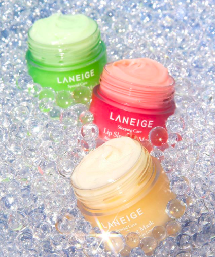 Laneige Lip Sleeping Mask in a variety of flavors.